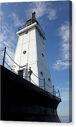 North Breakwater Canvas Print by Sheryl Burns