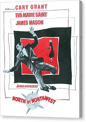 North By Northwest, Cary Grant, Eva Canvas Print