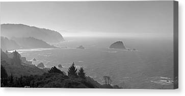 North California Coast In Black And White Canvas Print by Twenty Two North Photography