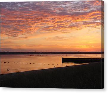 Canvas Print featuring the photograph North Fork Li Sunrise by Frank Wickham