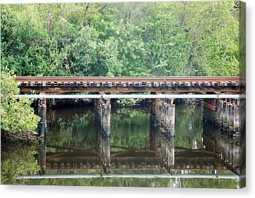 North Fork River Bridge Canvas Print by Rob Hans