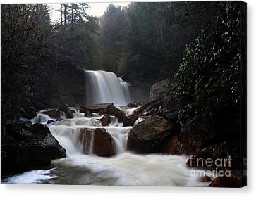 Canvas Print featuring the photograph North Forks Waterfalls by Dan Friend
