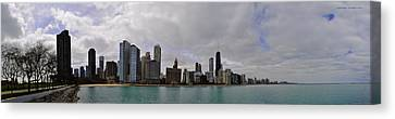 Canvas Print featuring the photograph North Of Navy Pier From The Series Chicago Skyline by Verana Stark