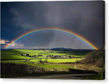 North Poorton Rainbow Canvas Print by Kris Dutson