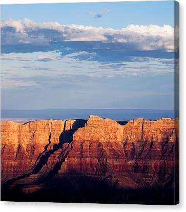 North Rim At Sunset Canvas Print by Dave Bowman