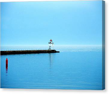 North Shore Lighthouse Canvas Print by Bridget Johnson