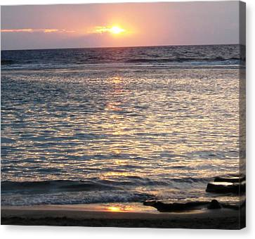 North Shore Sunset Canvas Print by Sharon Farris
