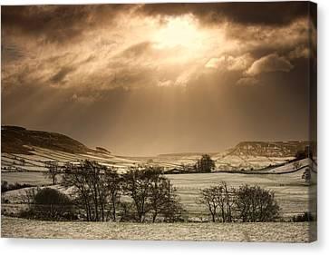 North Yorkshire, England Sun Shining Canvas Print by John Short