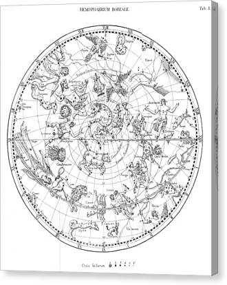 Northern Celestial Map Canvas Print by Science, Industry & Business Librarynew York Public Library