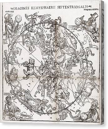 Northern Hemisphere Star Chart, 1537 Canvas Print by Middle Temple Library