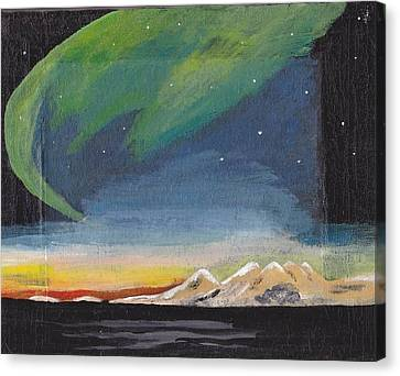 Canvas Print featuring the painting Northern Lights 2 by Audrey Pollitt