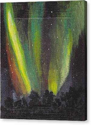 Canvas Print featuring the painting Northern Lights 3 by Audrey Pollitt