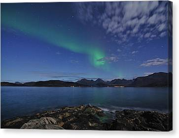 Northern Lights At Sommaroy Canvas Print by Bernt Olsen