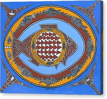 Northwest Fusion Fish Canvas Print by Bart Theiler