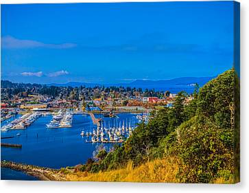 Canvas Print featuring the photograph Northwest Harbor by Ken Stanback