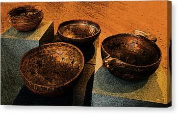 Norwegian Bowls Canvas Print by Nina Fosdick
