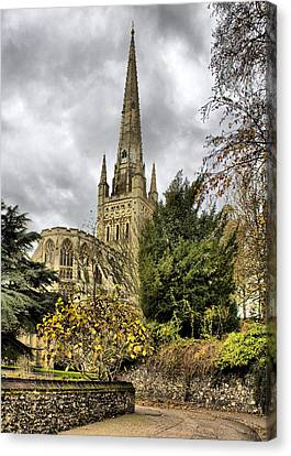 Norwich Cathedral England Canvas Print by Darren Burroughs