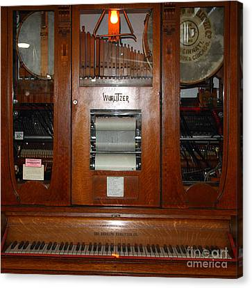 Nostalgic Wurlitzer Player Piano . 7d14400 Canvas Print by Wingsdomain Art and Photography