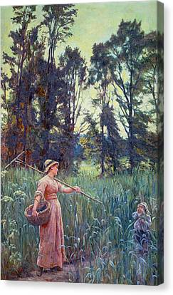 Not Far To Go Canvas Print by Frederick Morgan