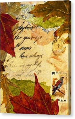 Note From Nature Canvas Print by Phillip  Jaeger