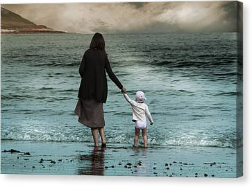 Nothing Is Too Big With A Hand To Hold Canvas Print by Julie L Hoddinott