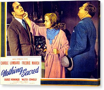 Nothing Sacred, Fredric March, Carole Canvas Print by Everett