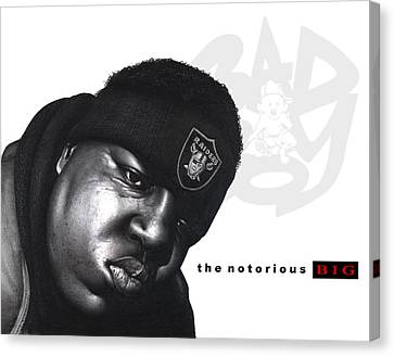 Notorious B.i.g Canvas Print by Lee Appleby