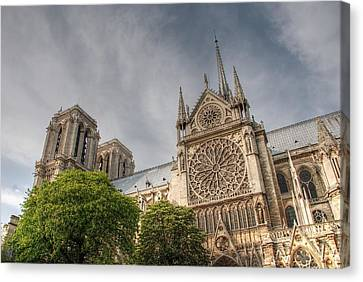 Canvas Print featuring the photograph Notre Dame De Paris by Jennifer Ancker