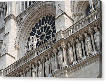 Notre Dame Details Canvas Print by Jennifer Ancker