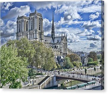 Canvas Print featuring the photograph Notre Dame by Hugh Smith