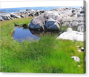 Canvas Print featuring the photograph Nova Scotia Beach by Karen Molenaar Terrell