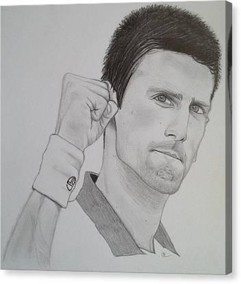 Novak Djokovic Canvas Print by Andrew Nelson