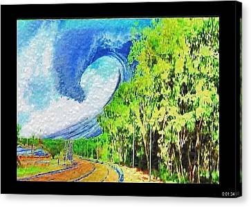 Canvas Print featuring the painting November Road by Beto Machado