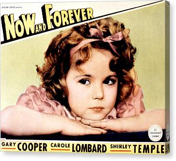 Now And Forever, Shirley Temple, 1934 Canvas Print by Everett