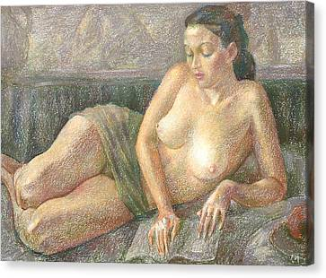 Nu 28 Canvas Print by Leonid Petrushin