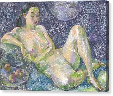 Figurative Canvas Print - Nu 30 by Leonid Petrushin