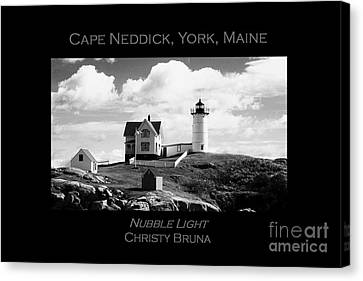 Nubble Light Canvas Print by Christy Bruna