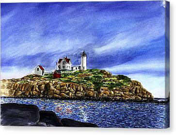Nubble Light Summer Canvas Print by Paul Gardner