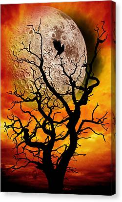 Nuclear Moonrise Canvas Print by Meirion Matthias