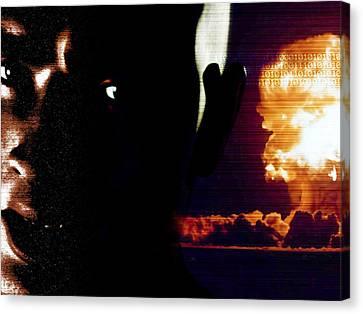 Nuclear Terrorism, Conceptual Artwork Canvas Print by Carl Goodman