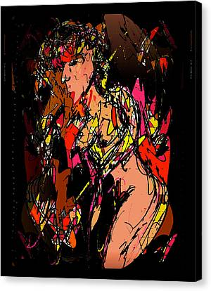 Profile Canvas Print - Nude 1 by Natalie Holland