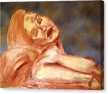 Nude Lady In Repose Canvas Print