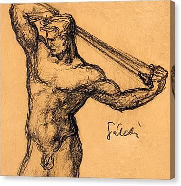 Nude Men Canvas Print by Odon Czintos