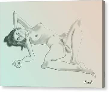 Nude Sketch 2 Canvas Print by John Huneck