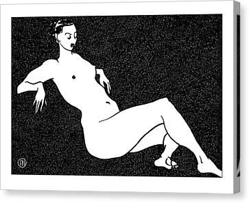 Nude Sketch 70 Canvas Print by Leonid Petrushin