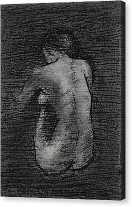 Nude Study....miniature Canvas Print