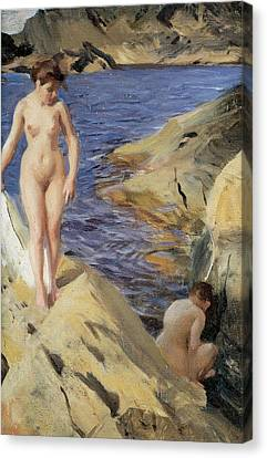 Nudes Canvas Print by Anders Zorn