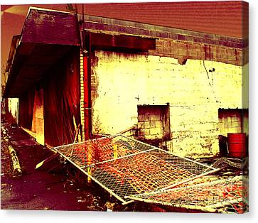 Nuked Warehouse Canvas Print by Silvie Kendall