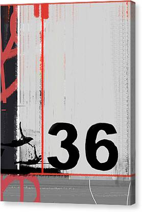Number 36 Canvas Print by Naxart Studio