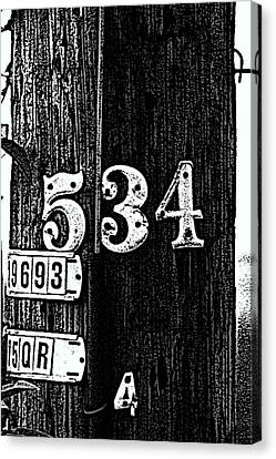 Numbers Canvas Print by Bret Worrell